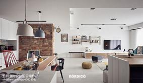 平北欧四居餐厅设计效果图四居及以上北欧极简家装装修案例效果图