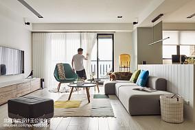 平北欧四居客厅美图四居及以上北欧极简家装装修案例效果图