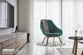 优美152平北欧四居客厅装修案例四居及以上北欧极简家装装修案例效果图