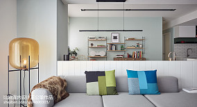 浪漫115平北欧四居客厅装修装饰图四居及以上北欧极简家装装修案例效果图