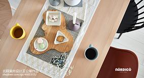 华丽119平北欧四居餐厅实景图四居及以上北欧极简家装装修案例效果图