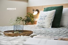 明亮151平北欧四居卧室装饰图四居及以上北欧极简家装装修案例效果图