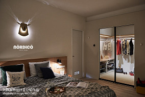 明亮125平北欧四居卧室装饰图片四居及以上北欧极简家装装修案例效果图