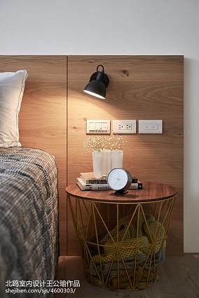 优美104平北欧四居卧室图片大全四居及以上北欧极简家装装修案例效果图