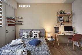优美118平北欧四居卧室装饰图片四居及以上北欧极简家装装修案例效果图