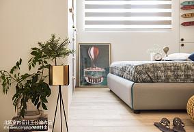 轻奢104平北欧四居卧室效果图片大全四居及以上北欧极简家装装修案例效果图