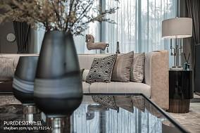热门面积118平别墅客厅中式装修效果图片欣赏别墅豪宅中式现代家装装修案例效果图