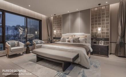 2018别墅卧室中式装修图卧室