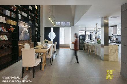 精美44平现代复式餐厅布置图