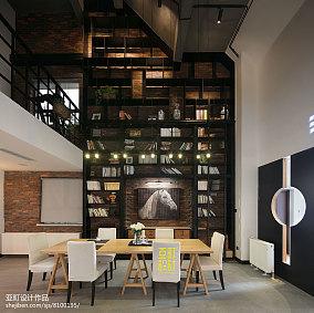 精致210平现代复式书房装修图片