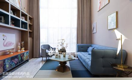 客厅北欧装修图片大全样板间北欧极简家装装修案例效果图
