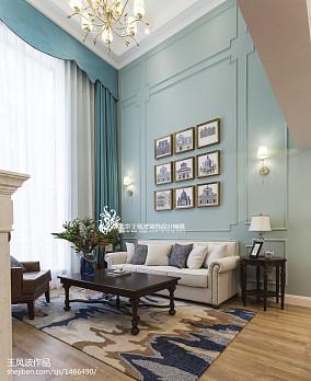 热门美式客厅装修效果图片