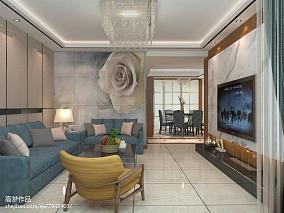 热门面积85平现代二居客厅欣赏图片大全
