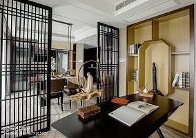 2018精选二居书房中式实景图片二居中式现代家装装修案例效果图