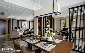 面积88平中式二居餐厅实景图片欣赏二居中式现代家装装修案例效果图