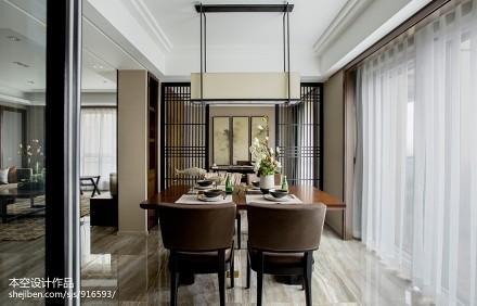 热门70平米二居餐厅中式设计效果图