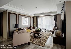 精美面积73平中式二居客厅效果图片大全二居中式现代家装装修案例效果图