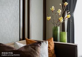 精美面积86平中式二居客厅装修欣赏图二居中式现代家装装修案例效果图