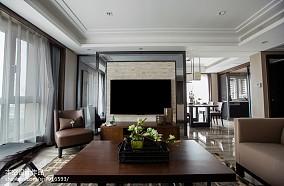 优雅90平中式二居布置图二居中式现代家装装修案例效果图