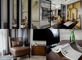 热门84平米二居书房中式装修图片二居中式现代家装装修案例效果图