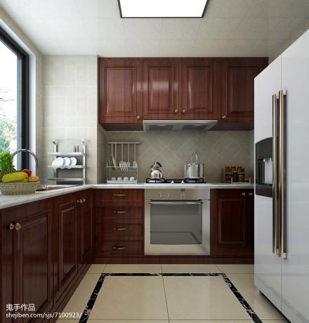 精选面积119平简欧四居厨房装饰图