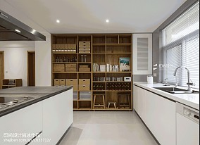 2018精选面积136平日式四居厨房效果图片