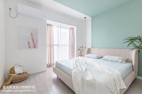 轻奢90平混搭二居卧室图片欣赏二居潮流混搭家装装修案例效果图