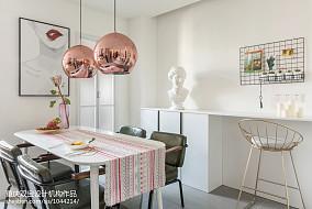 质朴63平混搭二居餐厅装修装饰图二居潮流混搭家装装修案例效果图