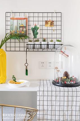 轻奢56平混搭二居厨房美图二居潮流混搭家装装修案例效果图