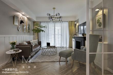 精美95平米三居客厅美式装修实景图片三居美式经典家装装修案例效果图