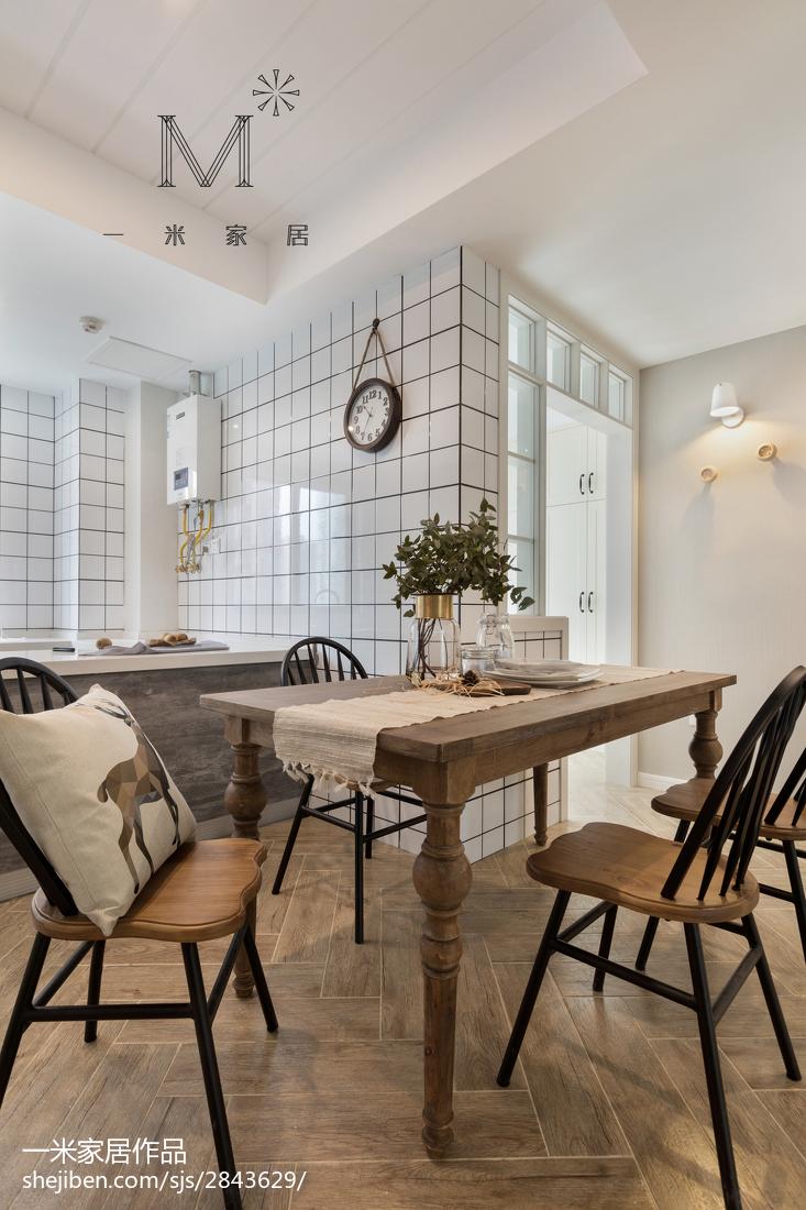 2018大小97平美式三居餐厅效果图片厨房美式经典餐厅设计图片赏析