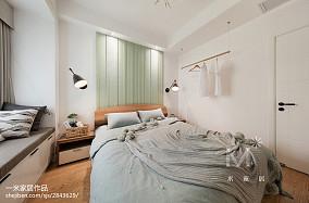 80m²色彩北欧卧室设计效果图二居北欧极简家装装修案例效果图