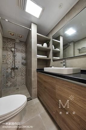 温馨79平北欧二居卫生间图片欣赏二居北欧极简家装装修案例效果图