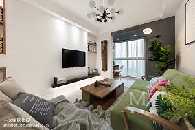 质朴54平北欧二居客厅装修装饰图二居北欧极简家装装修案例效果图