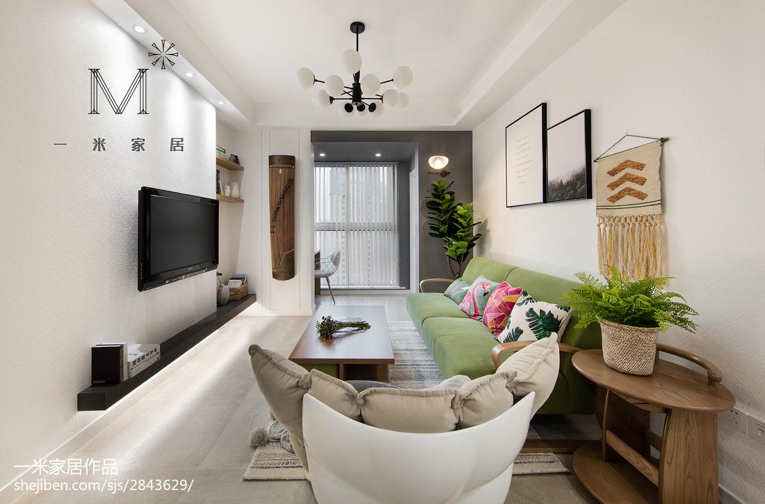 华丽80平北欧二居装修案例客厅北欧极简客厅设计图片赏析
