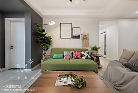 温馨76平北欧二居客厅美图二居北欧极简家装装修案例效果图