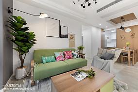 华丽85平北欧二居客厅装修装饰图二居北欧极简家装装修案例效果图