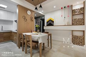 质朴68平北欧二居餐厅装修效果图二居北欧极简家装装修案例效果图