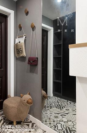 典雅86平北欧二居玄关装修装饰图二居北欧极简家装装修案例效果图