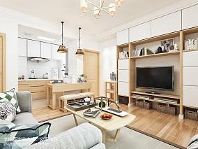 热门面积81平小户型客厅日式实景图片欣赏