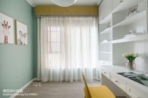 质朴88平混搭三居书房图片欣赏功能区窗帘