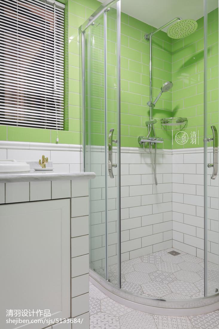 轻奢123平混搭三居卫生间设计案例卫生间