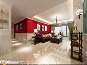 欧式别墅室内客厅空间图片