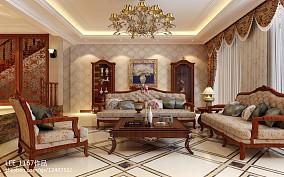 美式软装风格设计客厅图片