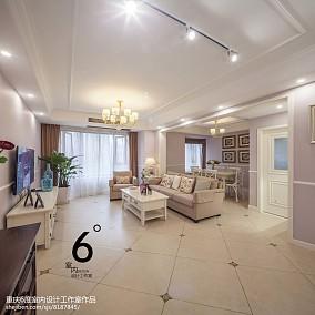 精选102平米三居客厅美式装修欣赏图片