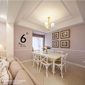 热门104平米三居餐厅美式装修实景图片101-120m²三居美式经典家装装修案例效果图
