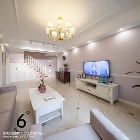2018面积99平美式三居客厅设计效果图101-120m²三居美式经典家装装修案例效果图