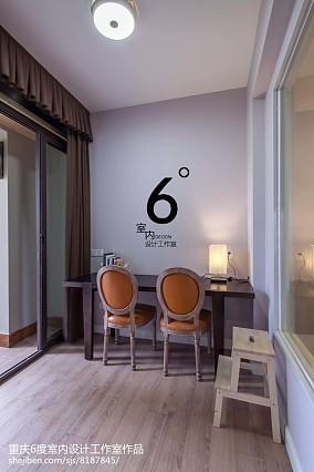 精美美式三居书房实景图片101-120m²三居美式经典家装装修案例效果图