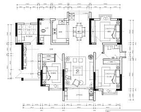 精美132平米四居客厅欧式实景图片大全