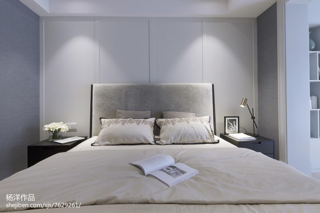 热门95平方三居卧室现代装修设计效果图片卧室现代简约卧室设计图片赏析